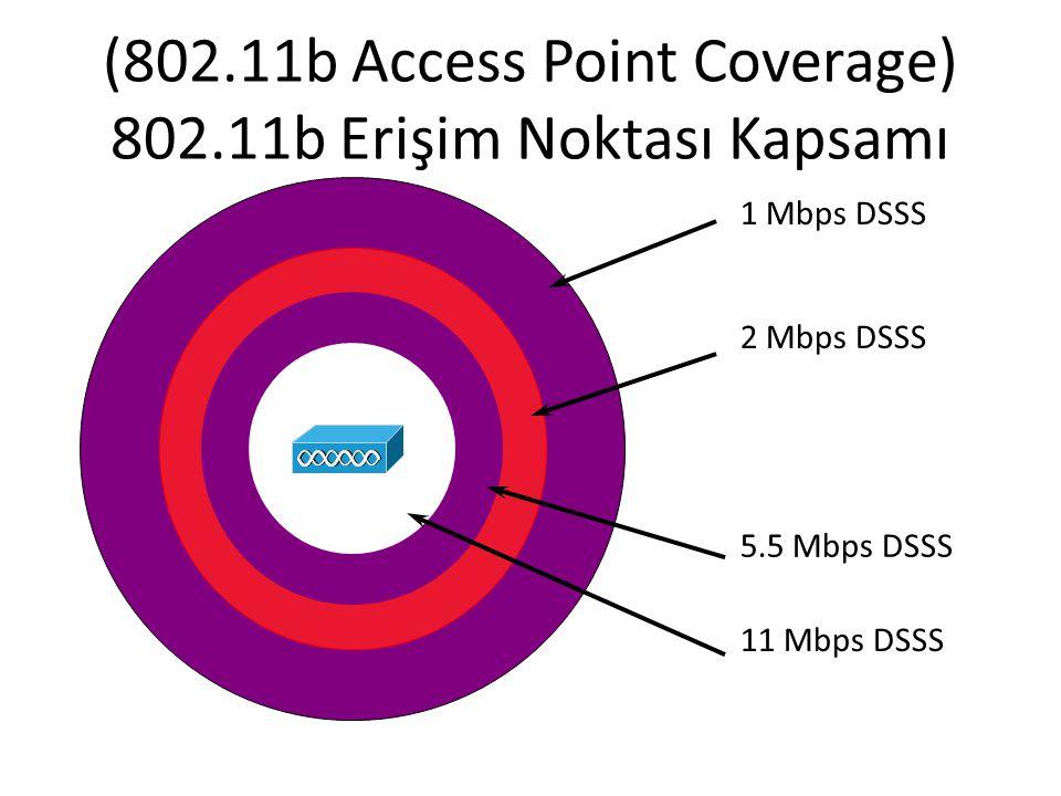 (802.11b Access Point Coverage) 802.11b Erişim Noktası Kapsamı