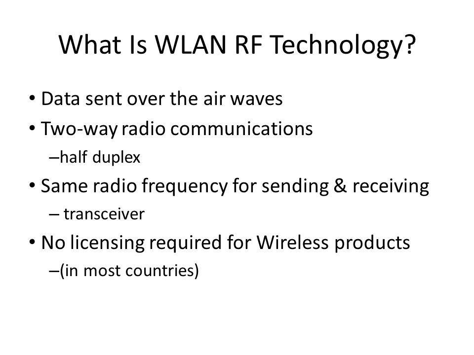 What Is WLAN RF Technology