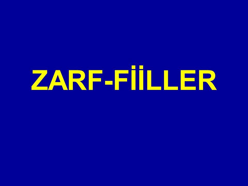 ZARF-FİİLLER