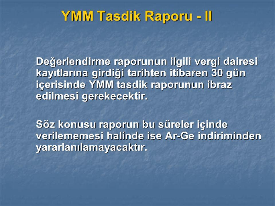 YMM Tasdik Raporu - II