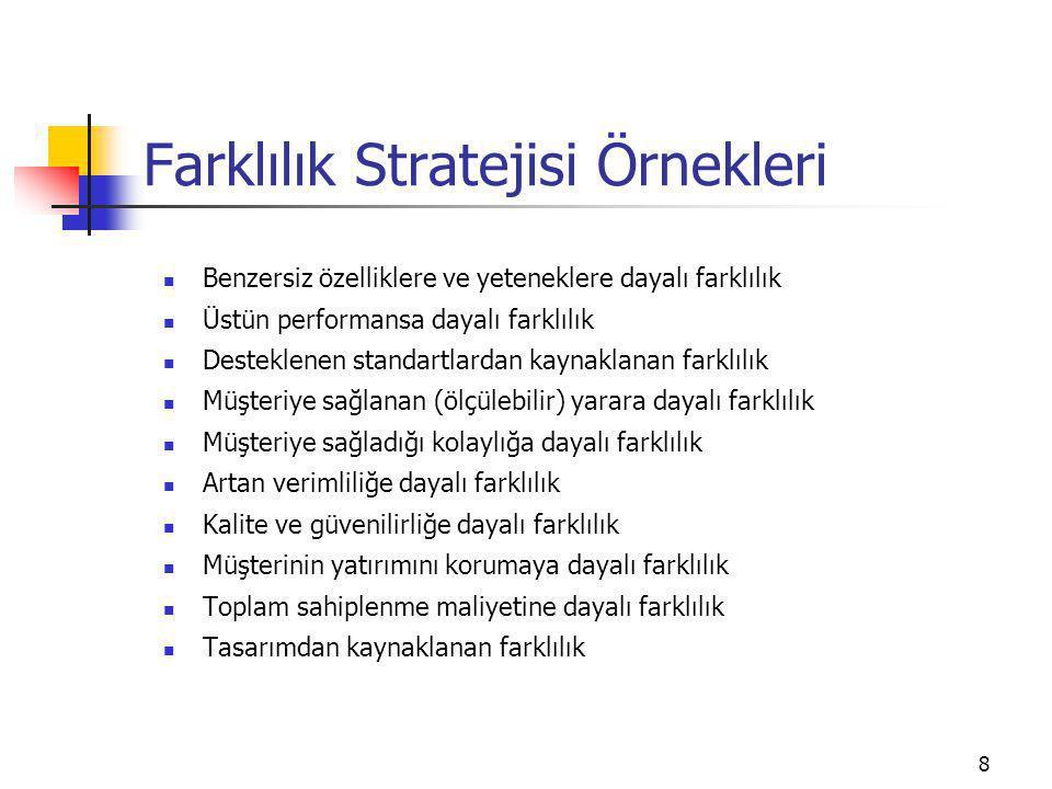 Farklılık Stratejisi Örnekleri