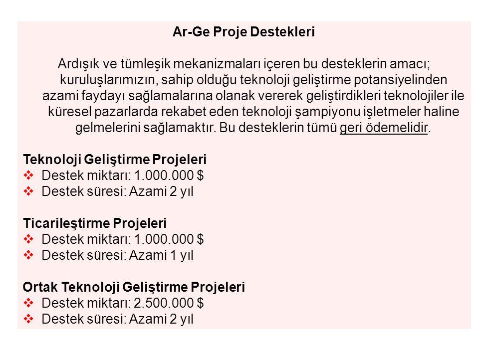Ar-Ge Proje Destekleri