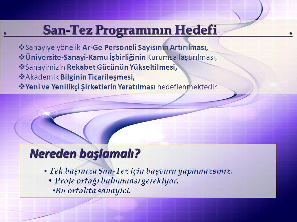 . San-Tez Programının Hedefi .
