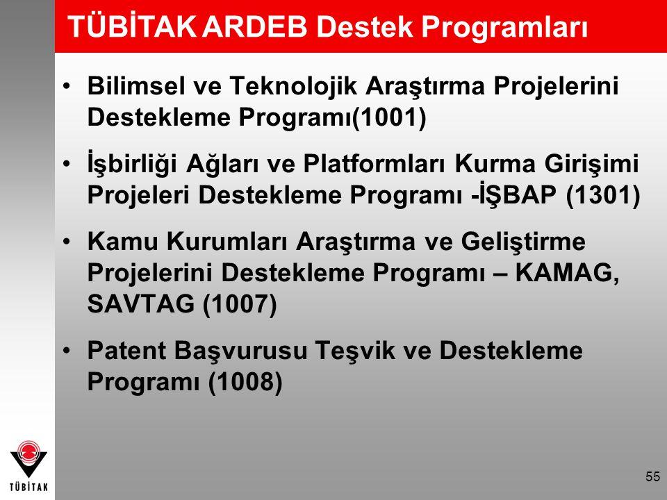 TÜBİTAK ARDEB Destek Programları