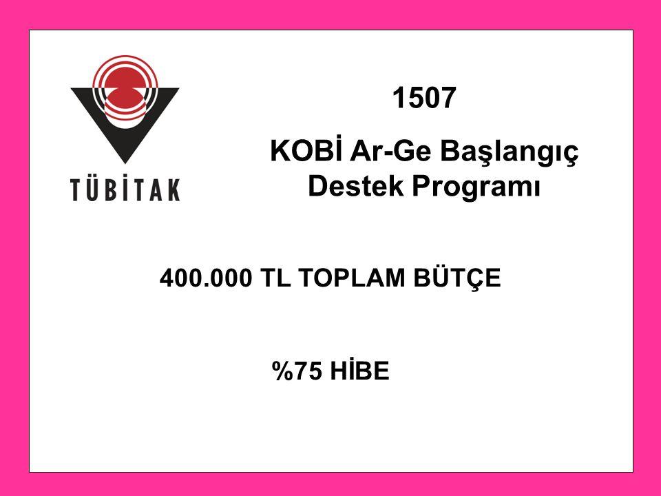 KOBİ Ar-Ge Başlangıç Destek Programı