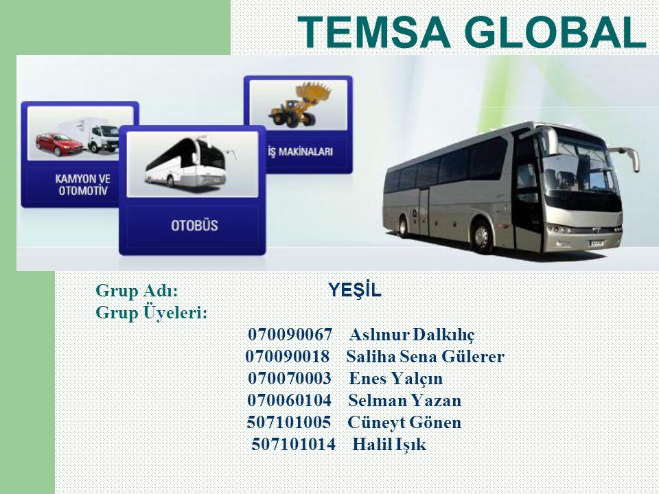 TEMSA GLOBAL Grup Adı: YEŞİL Grup Üyeleri: 070090067 Aslınur Dalkılıç