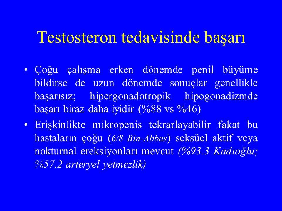 Testosteron tedavisinde başarı