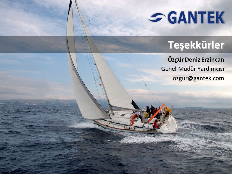 Özgür Deniz Erzincan Genel Müdür Yardımcısı ozgur@gantek.com