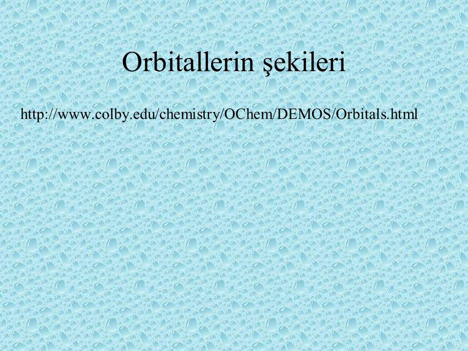 Orbitallerin şekileri
