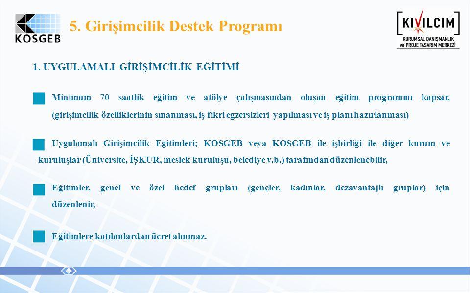 5. Girişimcilik Destek Programı
