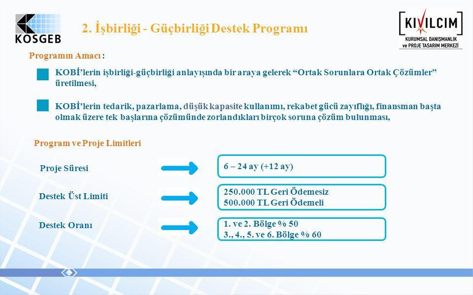 2. İşbirliği - Güçbirliği Destek Programı