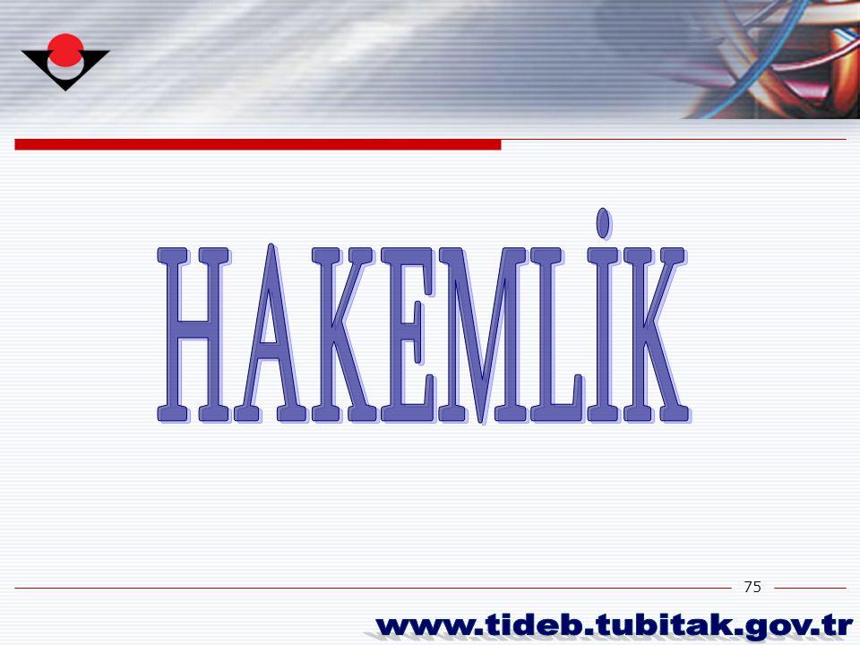 HAKEMLİK www.tideb.tubitak.gov.tr