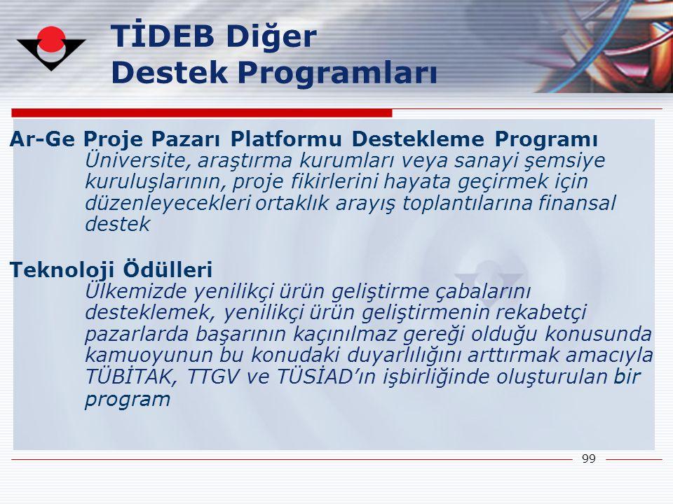 TİDEB Diğer Destek Programları