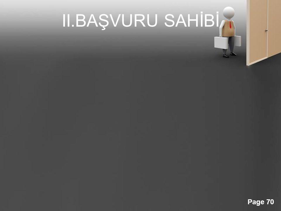 II.BAŞVURU SAHİBİ