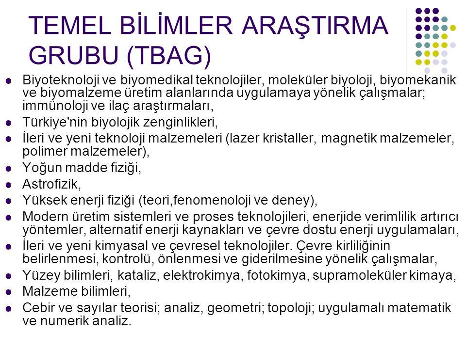 TEMEL BİLİMLER ARAŞTIRMA GRUBU (TBAG)
