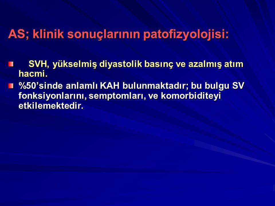 AS; klinik sonuçlarının patofizyolojisi: