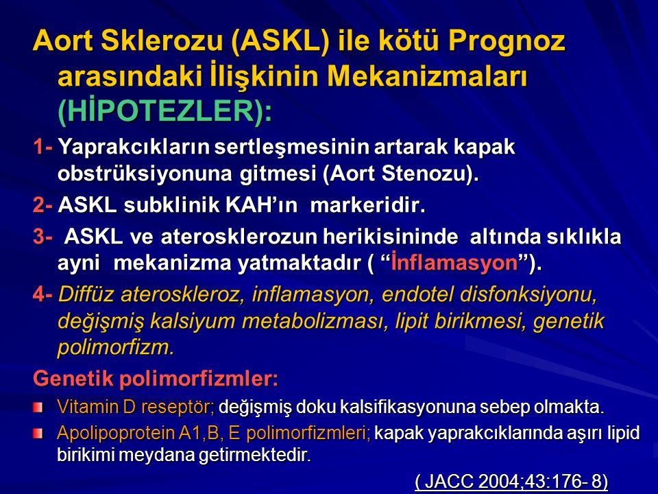 Aort Sklerozu (ASKL) ile kötü Prognoz arasındaki İlişkinin Mekanizmaları (HİPOTEZLER):