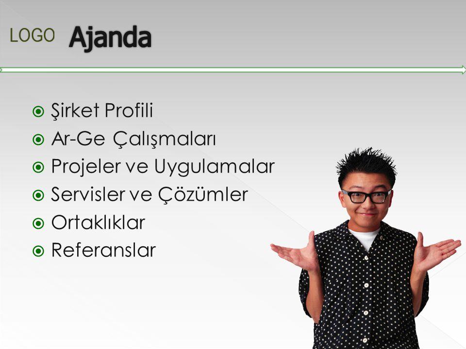 Ajanda Şirket Profili Ar-Ge Çalışmaları Projeler ve Uygulamalar