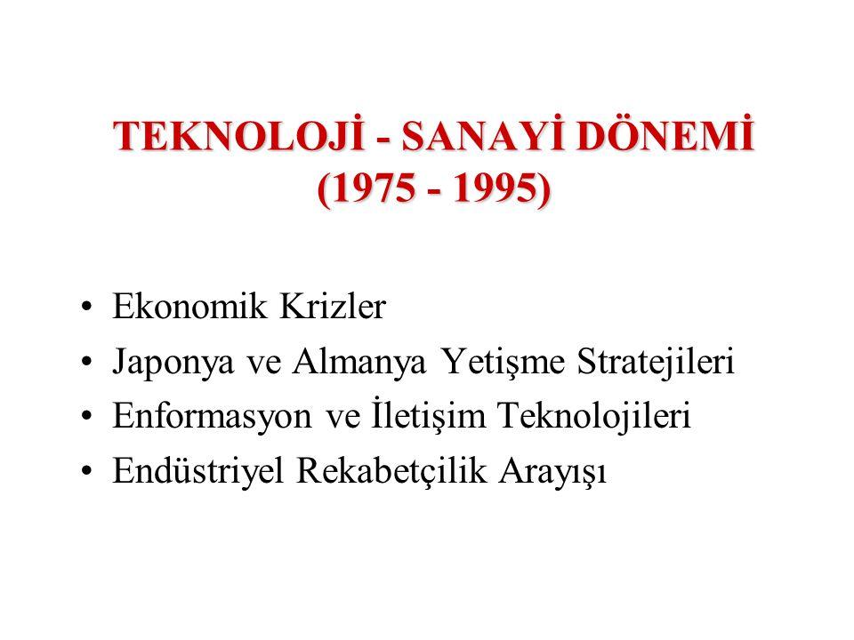 TEKNOLOJİ - SANAYİ DÖNEMİ (1975 - 1995)