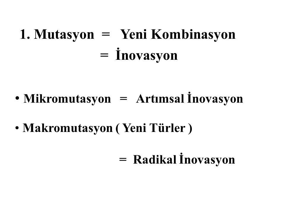 1. Mutasyon = Yeni Kombinasyon