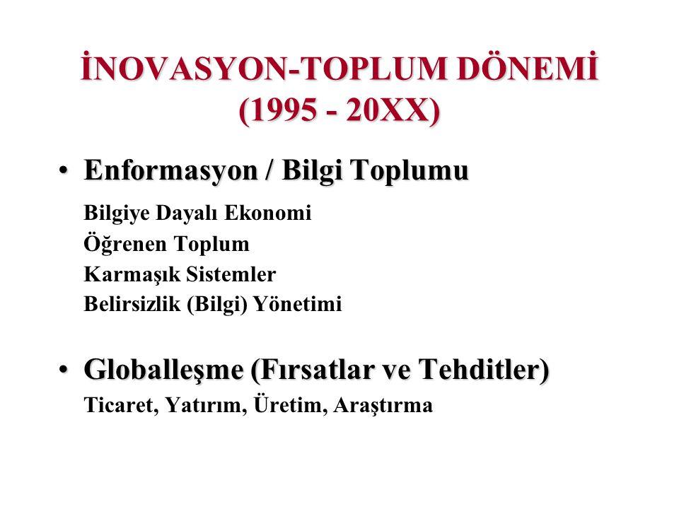 İNOVASYON-TOPLUM DÖNEMİ (1995 - 20XX)