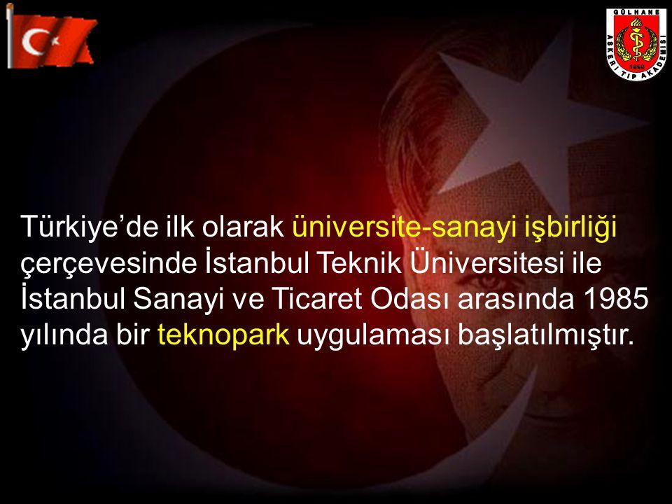 Türkiye'de ilk olarak üniversite-sanayi işbirliği çerçevesinde İstanbul Teknik Üniversitesi ile İstanbul Sanayi ve Ticaret Odası arasında 1985 yılında bir teknopark uygulaması başlatılmıştır.