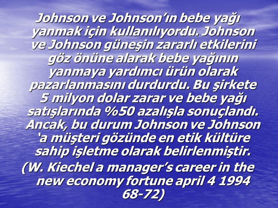Johnson ve Johnson'ın bebe yağı yanmak için kullanılıyordu