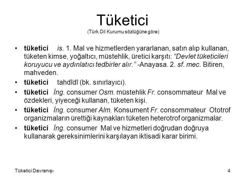Tüketici (Türk Dil Kurumu sözlüğüne göre)