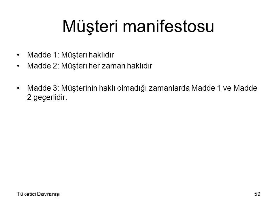 Müşteri manifestosu Madde 1: Müşteri haklıdır