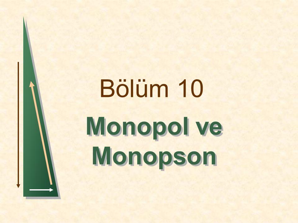 Bölüm 10 Monopol ve Monopson 1