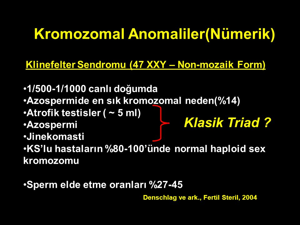Kromozomal Anomaliler(Nümerik)