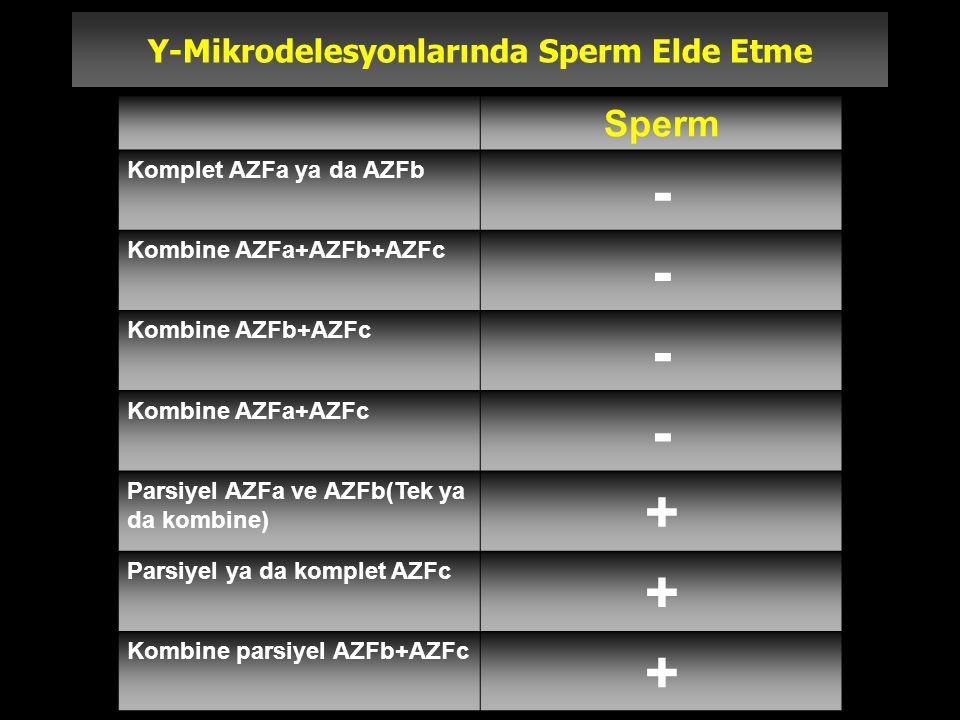 Y-Mikrodelesyonlarında Sperm Elde Etme