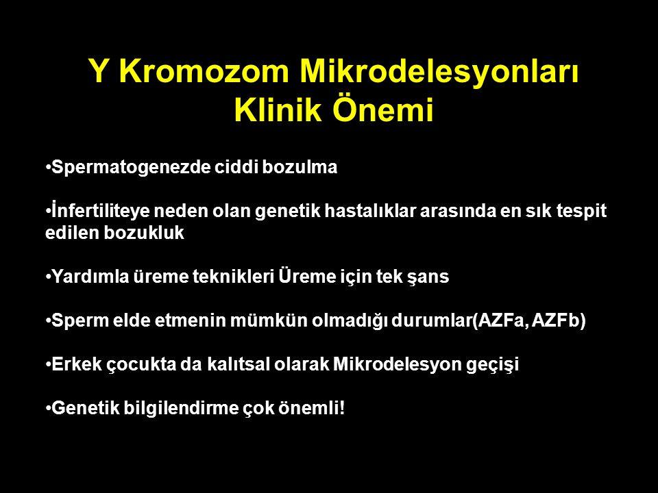 Y Kromozom Mikrodelesyonları