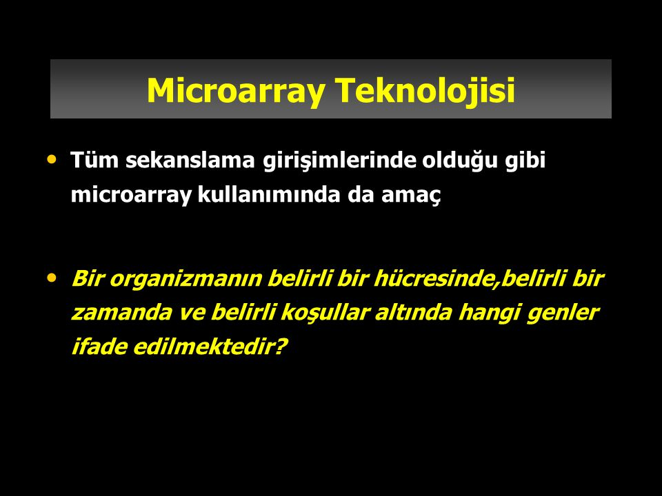 Microarray Teknolojisi