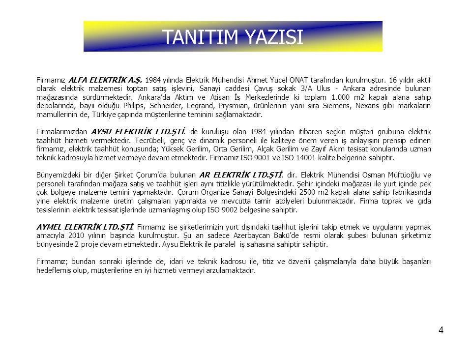 TANITIM YAZISI