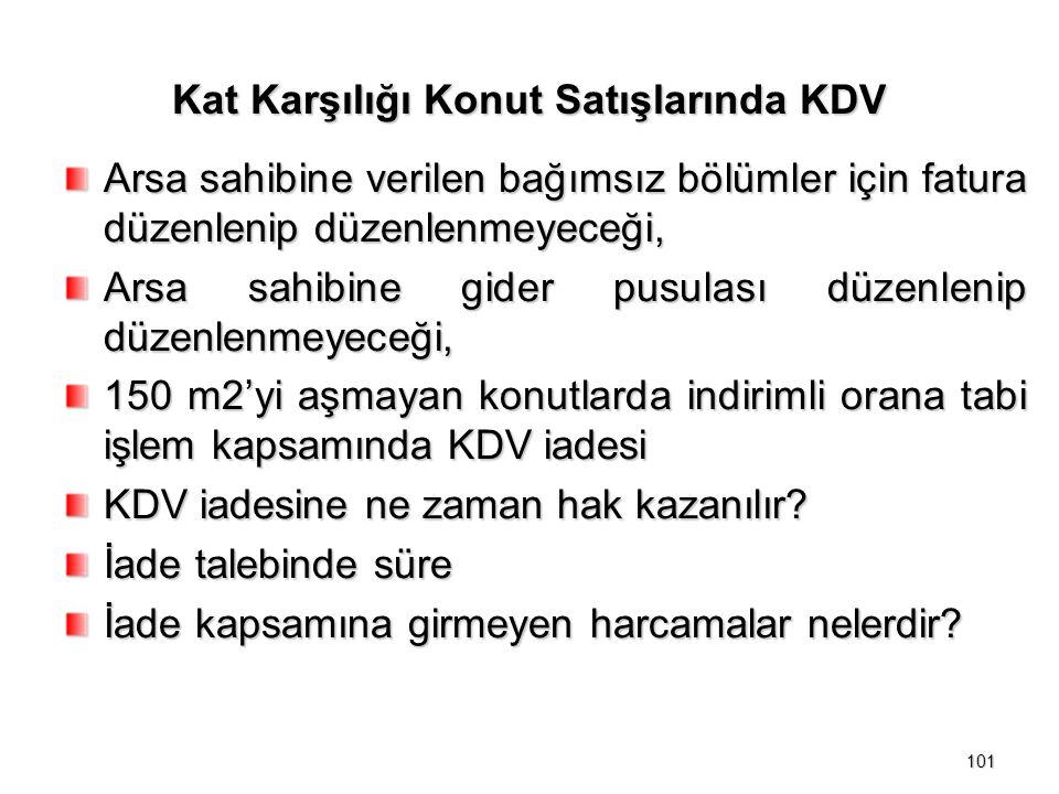 Kat Karşılığı Konut Satışlarında KDV