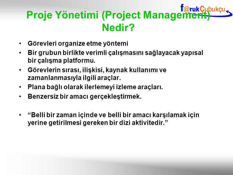 Proje Yönetimi (Project Management) Nedir