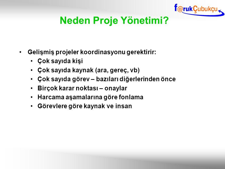 Neden Proje Yönetimi Gelişmiş projeler koordinasyonu gerektirir: