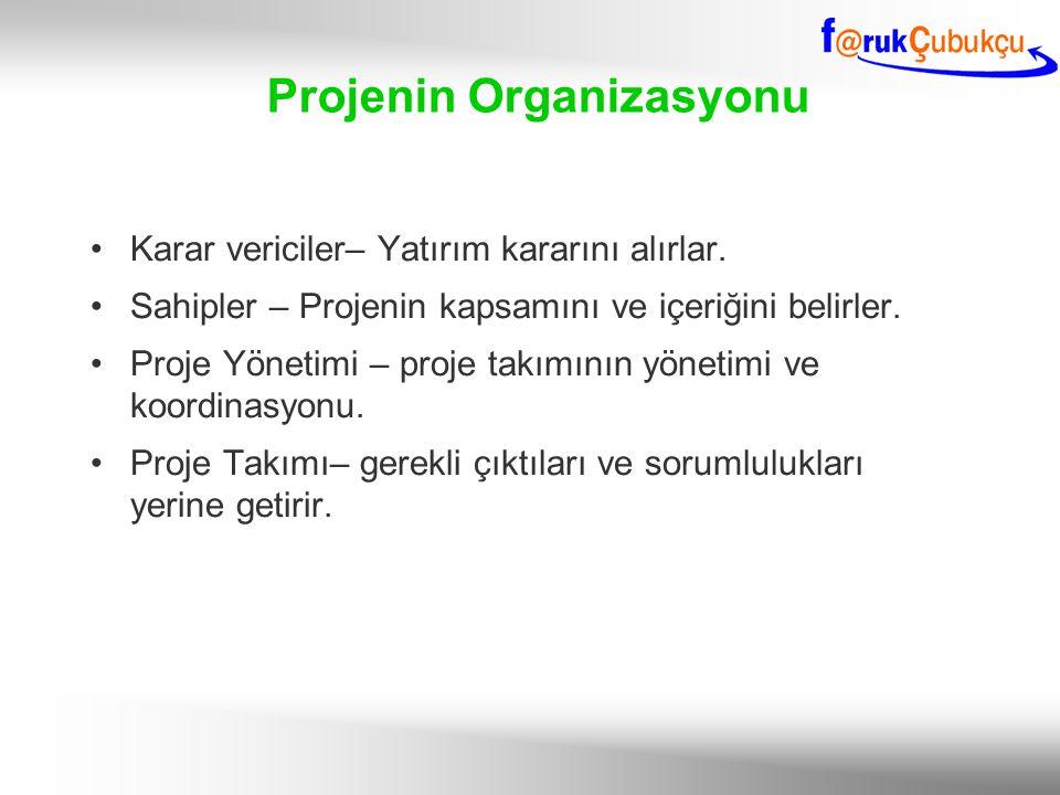 Projenin Organizasyonu