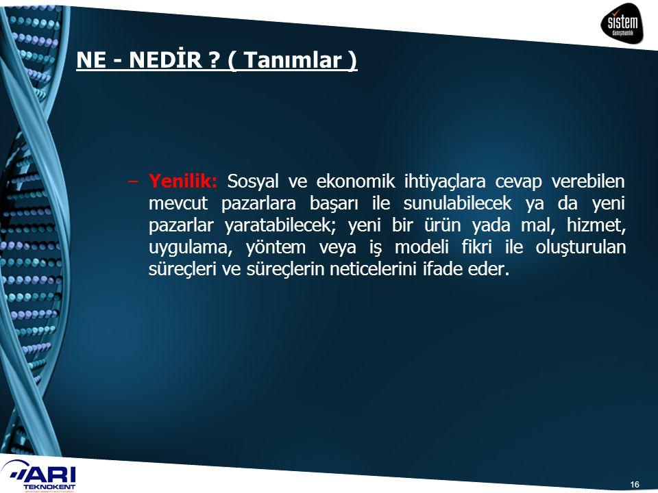 NE - NEDİR ( Tanımlar )