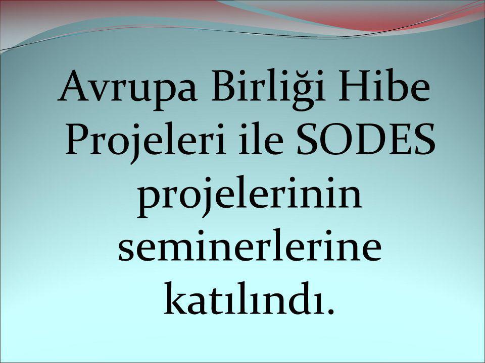 Avrupa Birliği Hibe Projeleri ile SODES projelerinin seminerlerine katılındı.