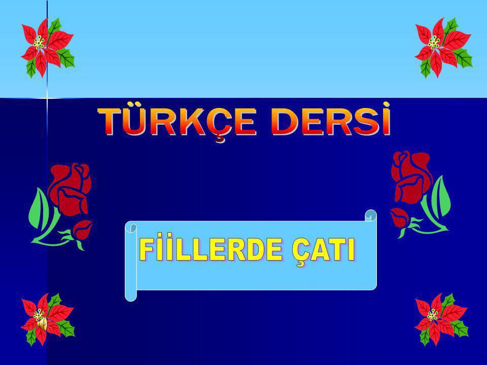 TÜRKÇE DERSİ FİİLLERDE ÇATI