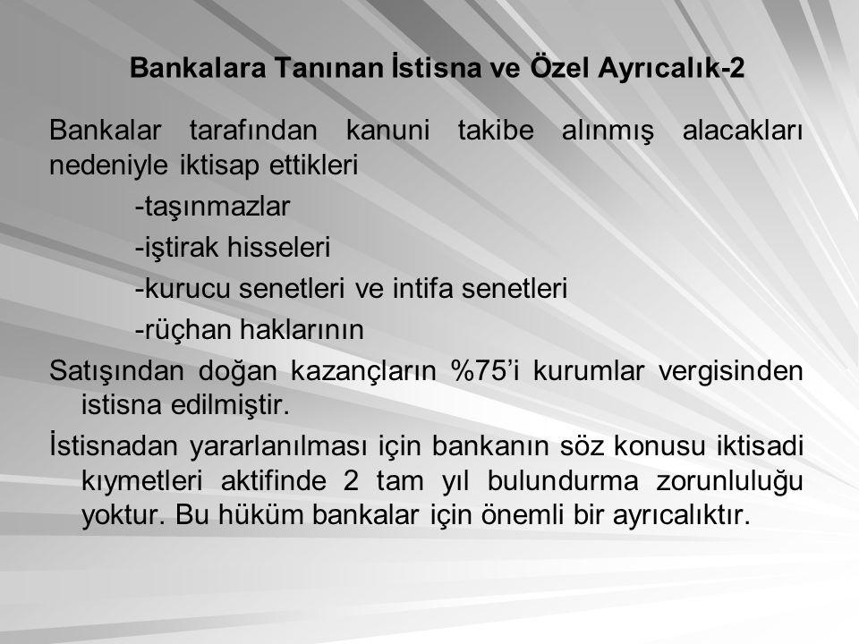 Bankalara Tanınan İstisna ve Özel Ayrıcalık-2
