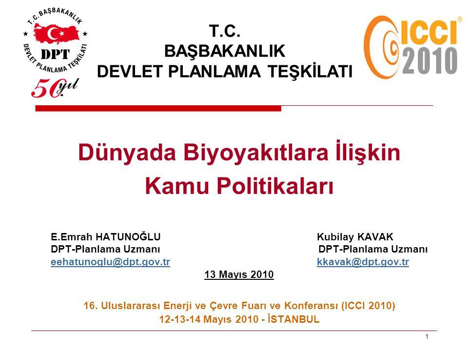 T.C. BAŞBAKANLIK DEVLET PLANLAMA TEŞKİLATI