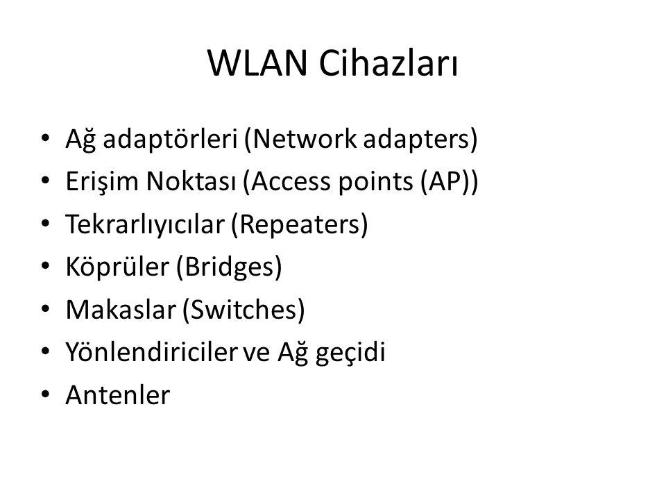 WLAN Cihazları Ağ adaptörleri (Network adapters)