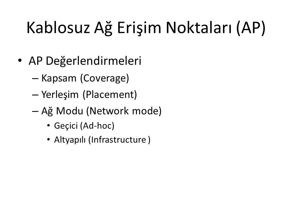 Kablosuz Ağ Erişim Noktaları (AP)