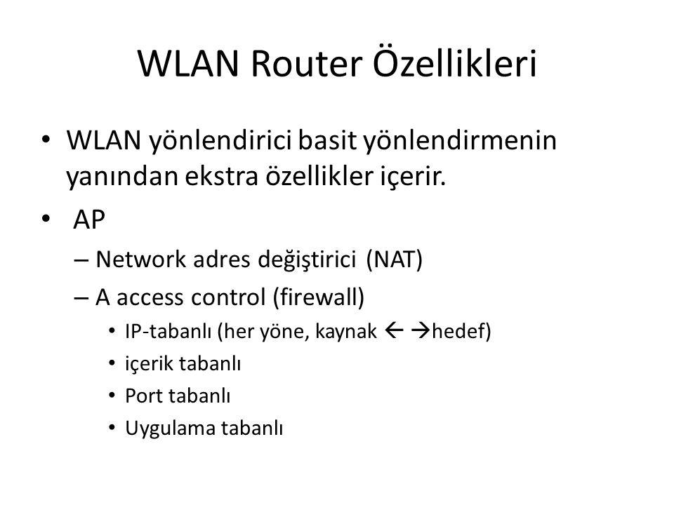 WLAN Router Özellikleri
