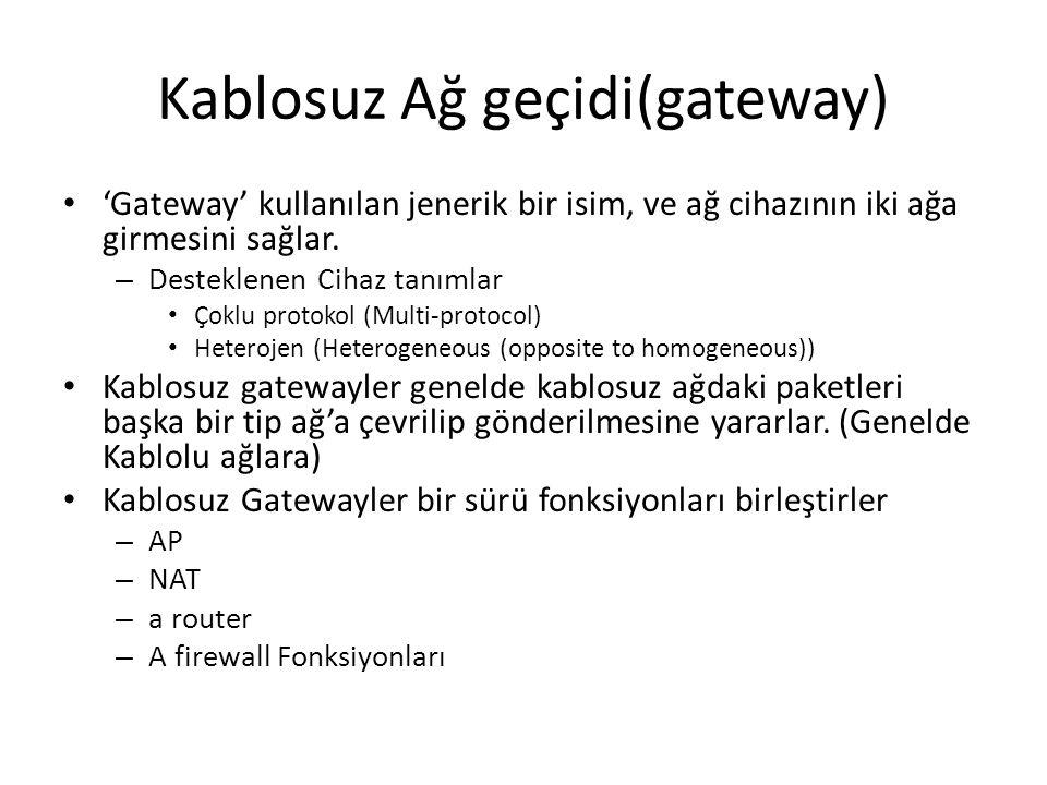 Kablosuz Ağ geçidi(gateway)