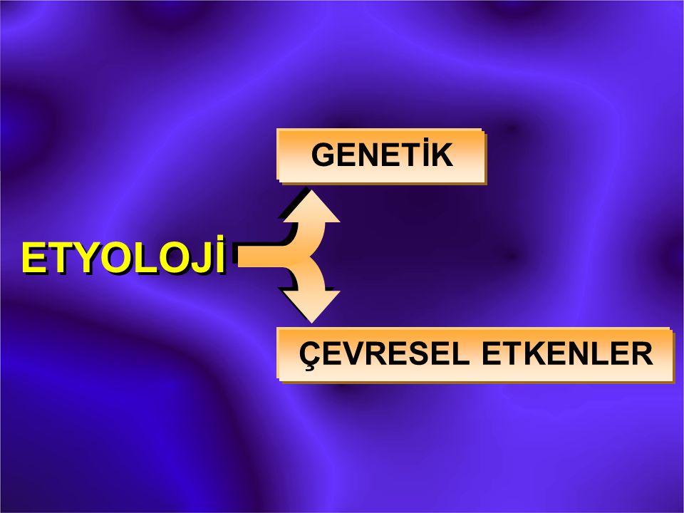 GENETİK ETYOLOJİ ÇEVRESEL ETKENLER