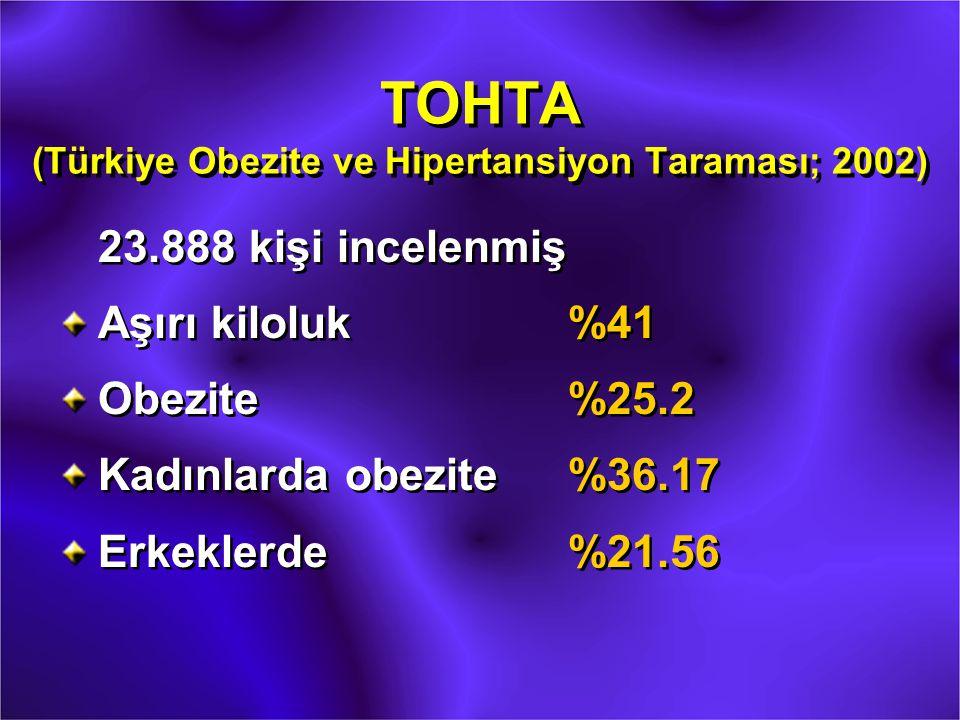 TOHTA (Türkiye Obezite ve Hipertansiyon Taraması; 2002)